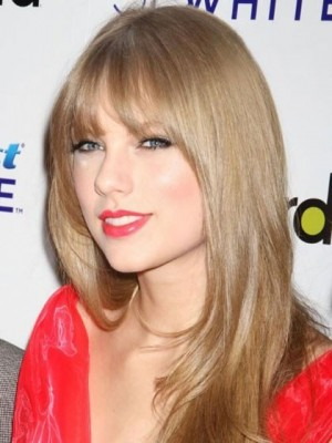 Taylor Swift Long Straight Blonde Synthetic Celebrity Wig