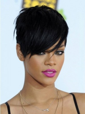 Rihanna Hairstyle Short Synthetic Celebrity Wig