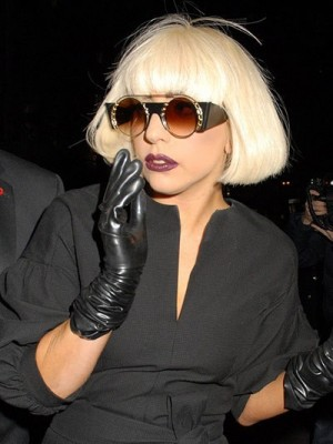 Lady Gaga Short Straight Capless Celebrity Wig for Woman