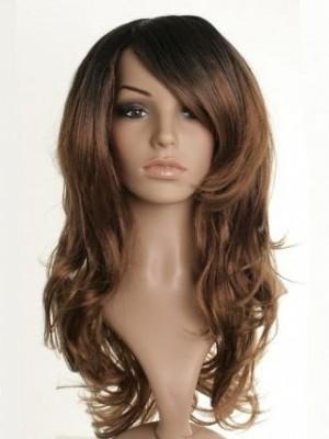 Long Fearne Cotton Wavy Synthetic Dip-Dye Celebrity Wig