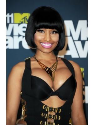 Nicki Minaj Synthetic Short Bob Celebrity Wig