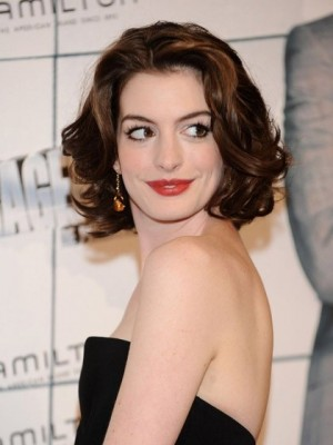 Hathaway's Hairstyle Medium Length Celebrity Wig