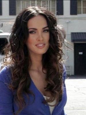"20"" Megan Fox India Remy Hair Wavy Celebrity Wig"