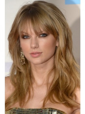 Taylor Swift Hairstyle Long Wavy Remy Hair Celebrity Wig