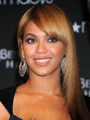 Beyonce Straight Capless Long 100% Remy Human Hair Celebrity Wig