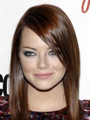 Emma Stone Straight Capless Remy Human Hair Celebrity Wig