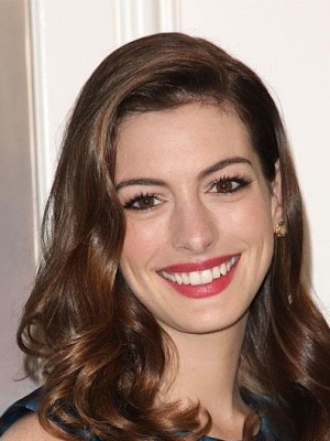 Anne Hathaway Wavy Full Lace Real Human Hair Celebrity Wig