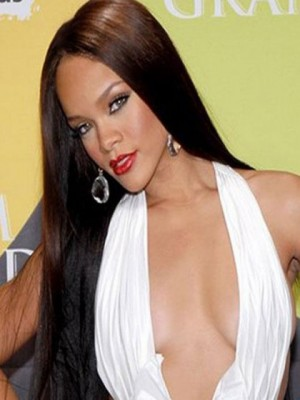 Rihanna Straight Lace Front Remy Hair Celebrity Wig