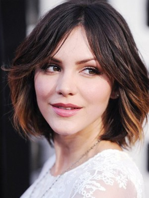 Katharine McPhee Central Parting Hairstyle Human Hair Celebrity Wig
