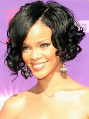 Rihanna Hairstyle Lace Front Stylish Synthetic Celebrity Wig