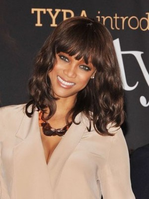 Typical Tyra Banks Hairstyle Human Hair Celebrity Wig