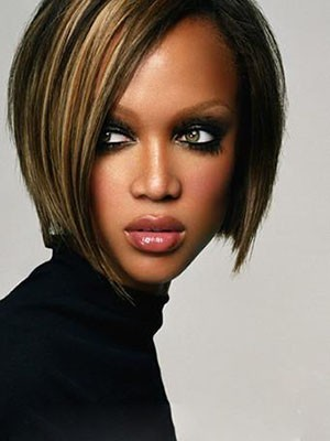 Tyra Banks Charming Straight Human Hair Lace Front Wig