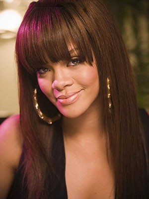 Rihanna Perfect Straight Mono Top Human Hair Lace Front Wig
