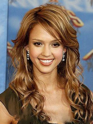 Jessica Alba Wavy Elegant Synthetic Lace Front Wig