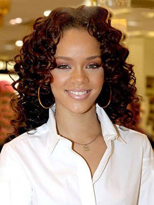 Rihanna Curly Perfect Synthetice Lace Front Wig