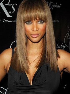 Tyra Banks Long Perfect Straight Remy Hair Full Lace Wig