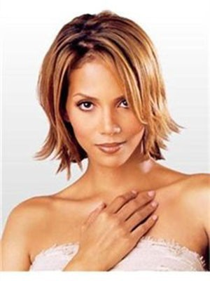 Halle Berry Charming Straight Human Hair Lace Front Wig
