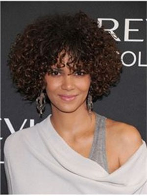 Halle Berry Romantic Curly Human Hair Full Lace Wig