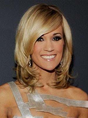 Carrie Underwood Charming Medium Synthetic Lace Front Wig