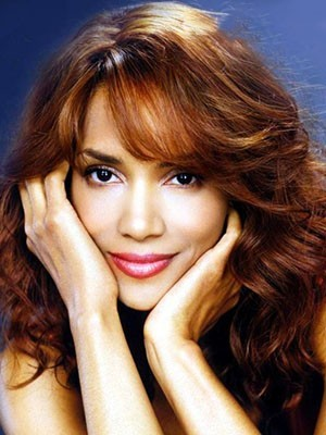 Halle Berry Charming Human Hair Wavy Long Lace Front Wig