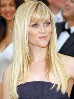"""20"""" Natural Straight Full Lace Celebrity Wig"""