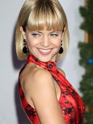 Mena Suvari Human Hair Romantic Capless Straight Wig