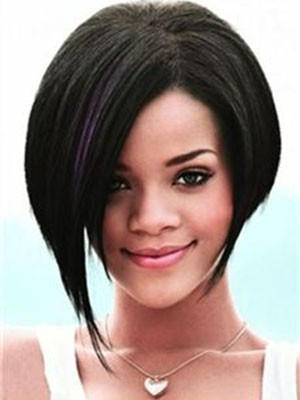 Rihanna Straight Romantic Lace Front Human Hair Wig