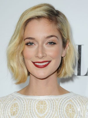 Stylish Caitlin FitzGerald Lace Front Hairstyle Bob Wig