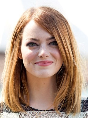 Lace Front Emma Stone's Graceful Hairstyle Wig