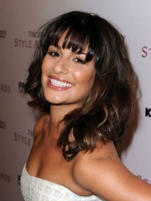 Lea Michele Hairstyle Capless Shoulder Length Wig