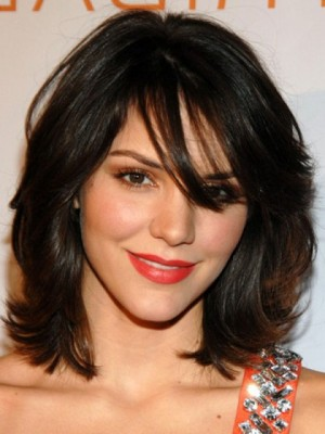 Top Quality Katherine McPhee Hairstyle Human Hair Wig