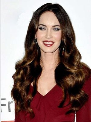 Romantic Megan Fox Hairstyle Wavy Lace Front Wig