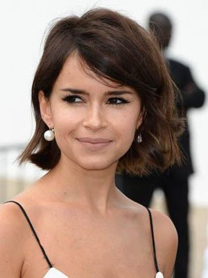 Attractive Miroslava Duma Wavy Hairstyle Lace Front Wig