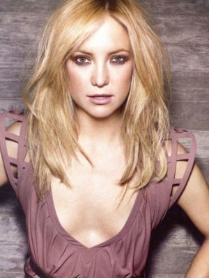 Kate Hudson Dazzling Lace Front Human Hair Wig