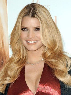 Jessica Simpson Synthetic Wavy Lace Front Wig