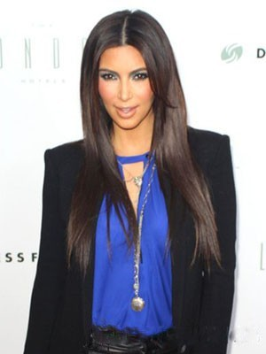 Kim Kardashian Synthetic Straight Lace Front Wig