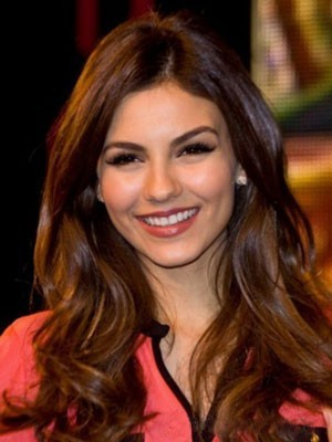 Victoria Justice Lace Front Wavy Synthetic Wig