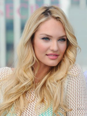 Candice Swanepoel Wavy Synthetic Long Lace Front Wig