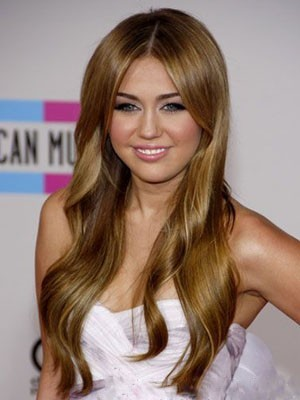 Miley Cyrus Glamorous Synthetic Lace Front Wig