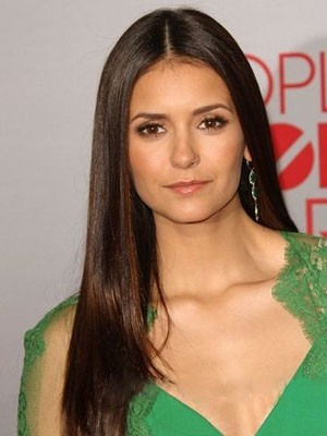 Nina Dobrev Dazzling Lace Front Straight Synthetic Wig