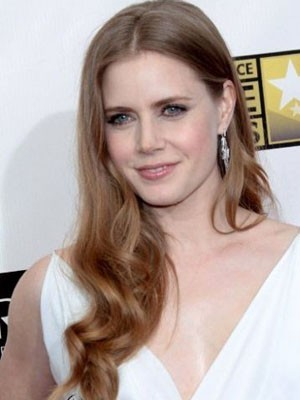 Amy Adams Synthetic Lace Front Wavy Wig