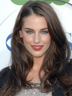 Jessica Lowndes Elaborately Human Hair Lace Front Wavy Wig