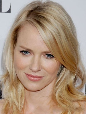 Naomi Watts Saucy Shimmering Lace Front Wavy Synthetic Wig