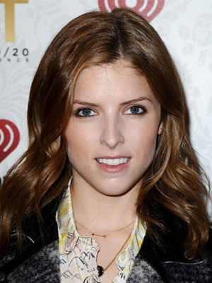 Anna Kendrick Natural Wavy Lace Front Synthetic Wig