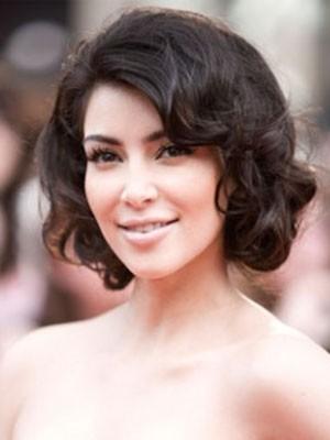 Kim Kardashian Natural Human Hair Straight Lace Front Wig