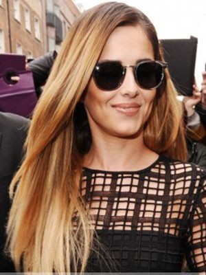 Cheryl Cole New Style Synthetic Straight Lace Front Wig
