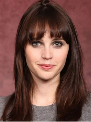 Felicity Jones Human Hair Straight Capless Wig