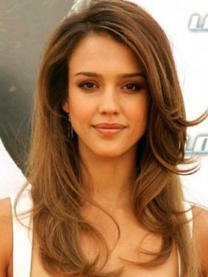 Jessica Alba Straight Lace Front Human Hair Wig