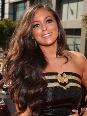 Sammi Giancola Impressive Wavy Synthetic Long Lace Front Wig