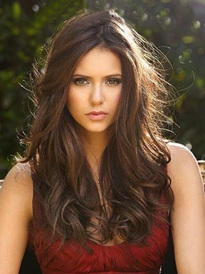 Nina Dobrev Affordable Lace Front Synthetic Wavy Wig